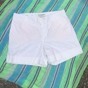 Banana Republic white shorts size 10 Martin Fit